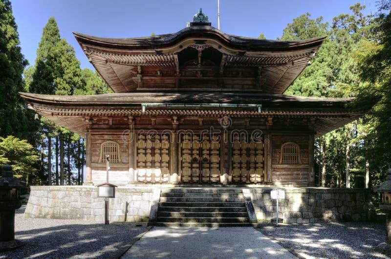 Kaidanintempel in klooster Enryaku -enryaku-ji bij MT Hiei, Kyoto, Japan royalty-vrije stock fotografie