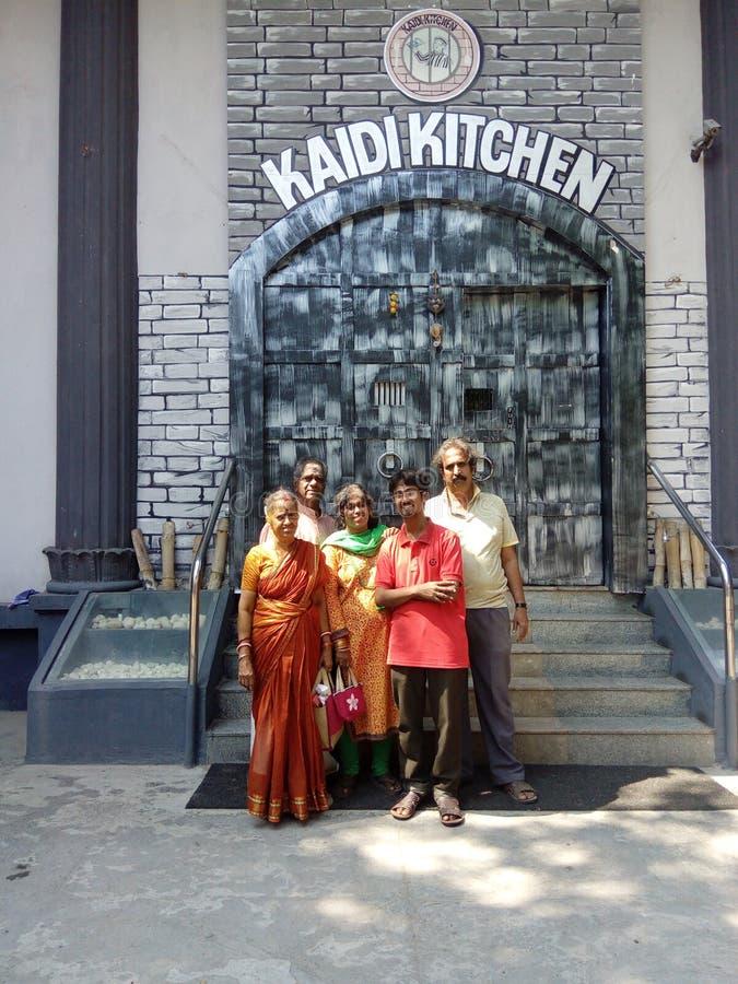 Kaidi厨房旅馆在金奈印度 库存图片