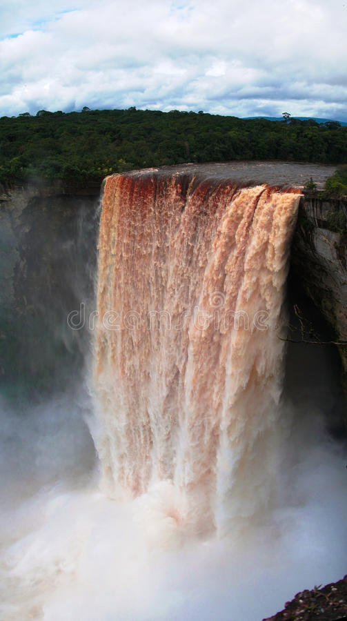 Kaieteur waterfall, one of the tallest falls in the world, potaro river, Guyana. Kaieteur waterfall, one of the tallest falls in the world, potaro river Guyana royalty free stock photography