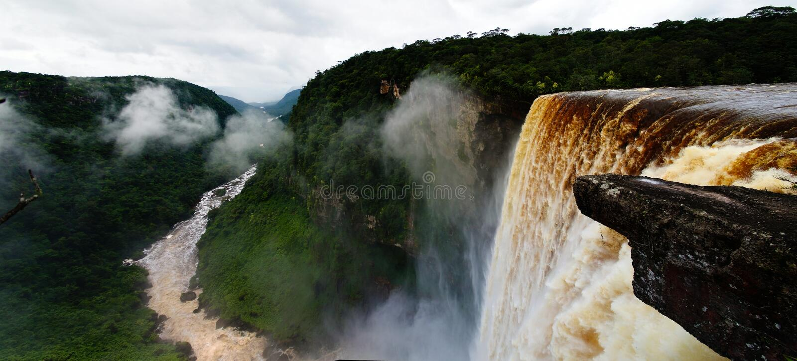 Kaieteur waterfall, one of the tallest falls in the world in potaro river Guyana. Kaieteur waterfall, one of the tallest falls in the world, potaro river Guyana royalty free stock photos