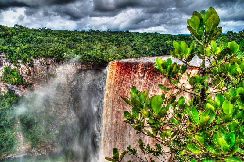 Kaieteur waterfall, one of the tallest falls in the world at potaro river Guyana. Kaieteur waterfall, one of the tallest falls in the world at Potaro river stock photography