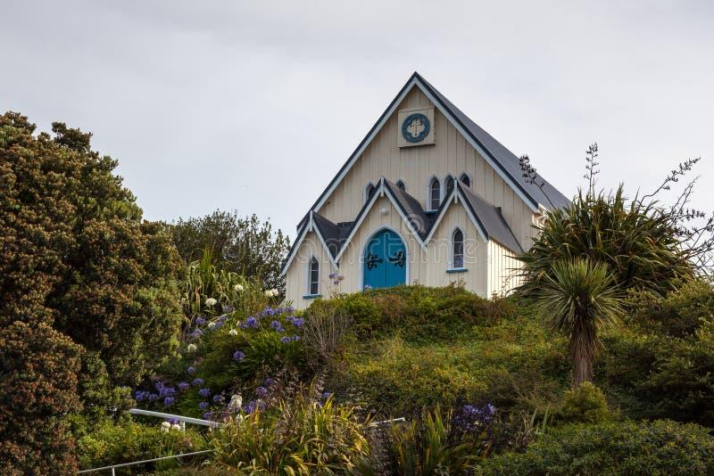 KAIKOURA NOWA ZELANDIA, LUTY, - 12: Ewangelii kaplica w Kaikoura zdjęcia stock
