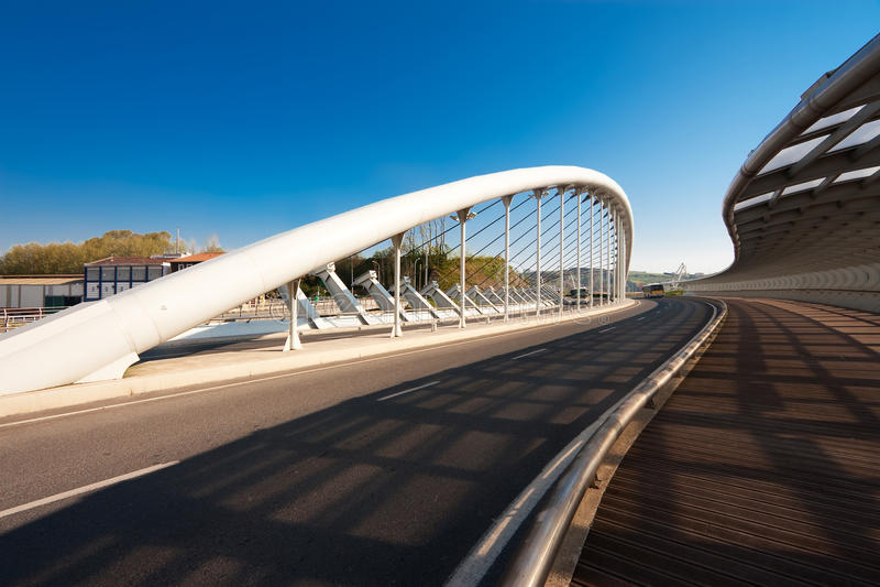 Kaiku的桥梁, Barakaldo 库存图片