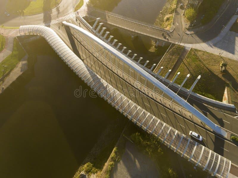 Kaiku most, Barakaldo, Bizkaia fotografia stock