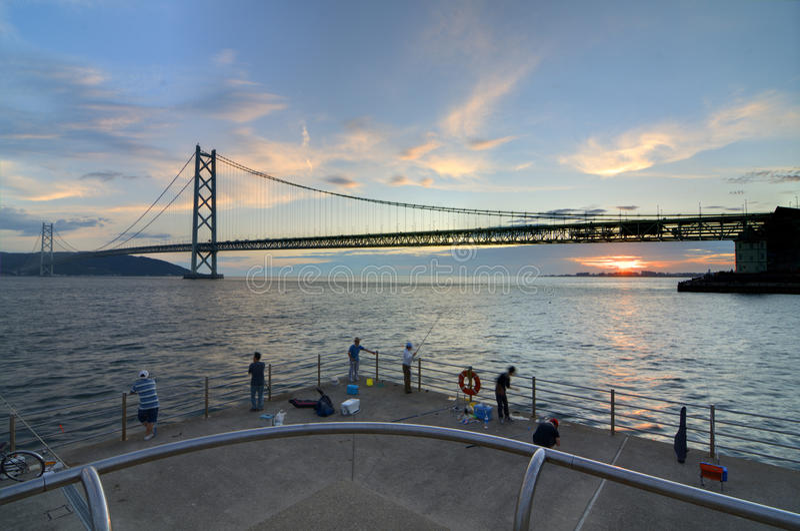 kaikyo моста akashi стоковые изображения rf
