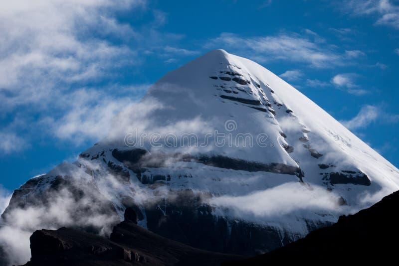 Kailas Himalayas Mountain Tibet Home Of The Lord Shiva. Kailash - the holiest mountain of Tibet. Object of pilgrimage of buddhist, hindu, jains and adepts of bon stock photos