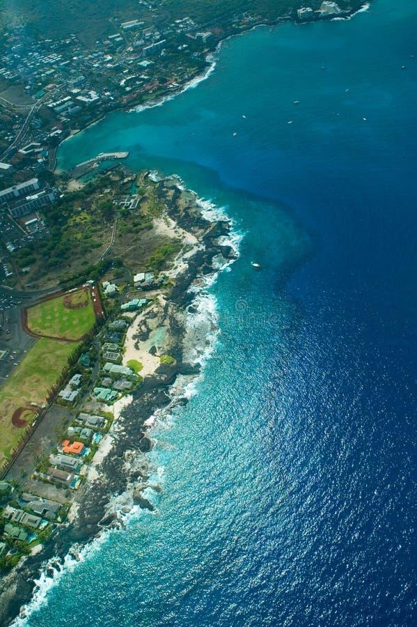 Kailua-Kona, Big Island aerial shot stock photography