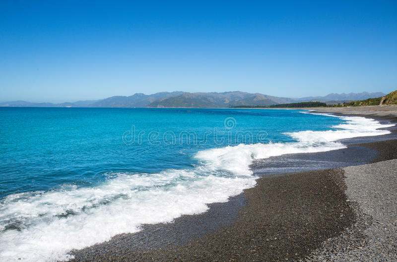 Kaioura-Strandlandschaft lizenzfreie stockfotografie