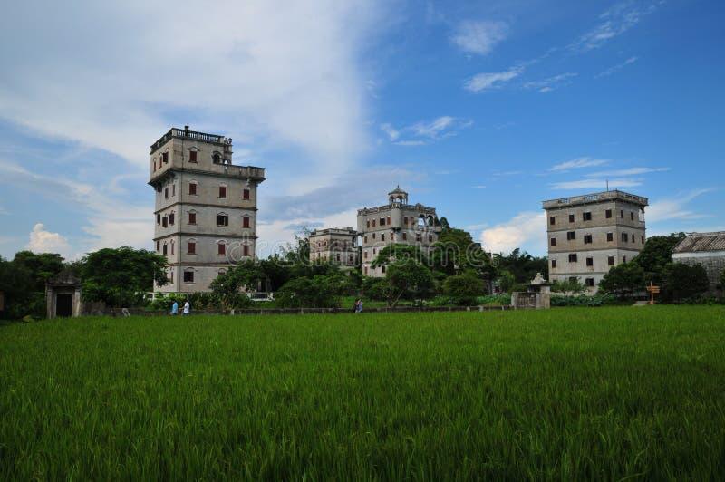 Kaiping Diaolou, Chine photo libre de droits