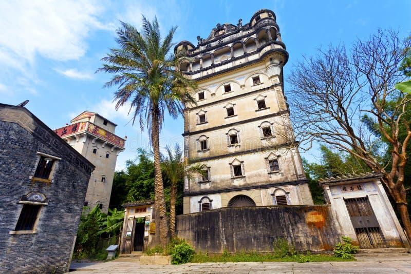 Kaiping Diaolou en China, sitio del patrimonio mundial de la UNESCO. fotografía de archivo libre de regalías