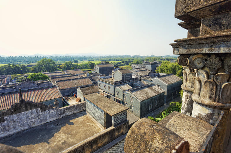 Kaiping Diaolou et villages en Chine images stock