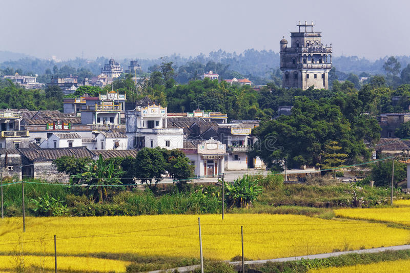 Kaiping Diaolou and Villages. In China royalty free stock images