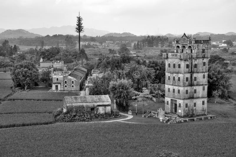 Kaiping Diaolou, watchtowers in Guandong-provincie, in China royalty-vrije stock foto
