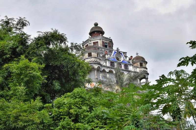 The Kaiping Diaolou watchtowers in Guangdong province in China. Are fortified multi-storey towers served mainly as protection against forays by bandits, a few stock images