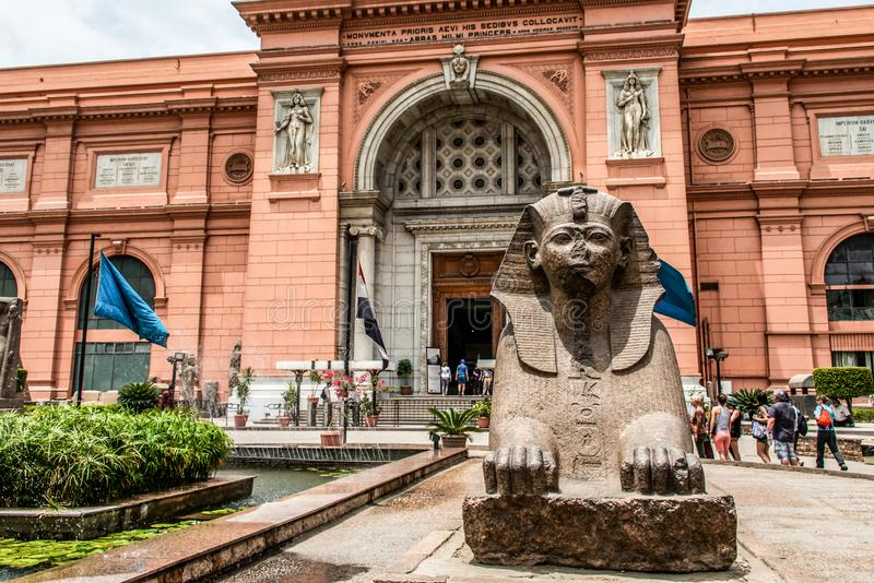 KAIR, EGIPT 25 05 2019 powierzchowność Egipskie Muzealne dawność jeden sławni muzea świat obraz royalty free
