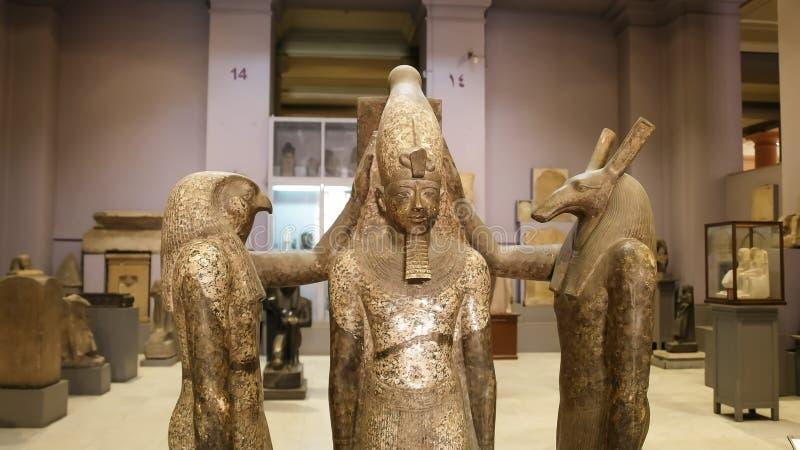KAIR, EGIPT WRZESIEŃ, 26, 2016: statua rameses III w Cairo obrazy stock