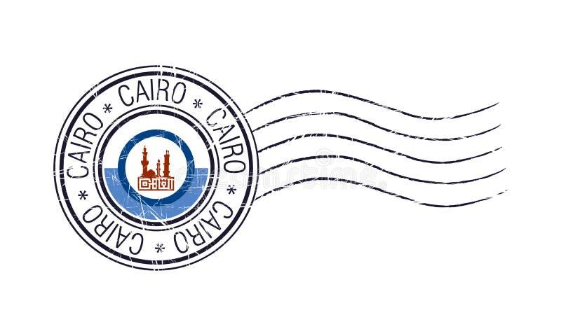 Kair miasta grunge pocztowa pieczątka ilustracji