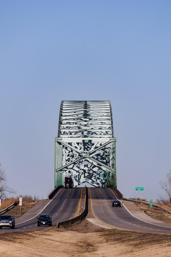 Kair most rzeka mississippi, Missouri & Illinois -, fotografia stock