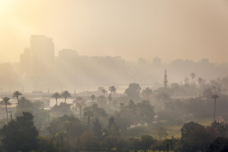 Kair ranku mgły wschód słońca obrazy stock