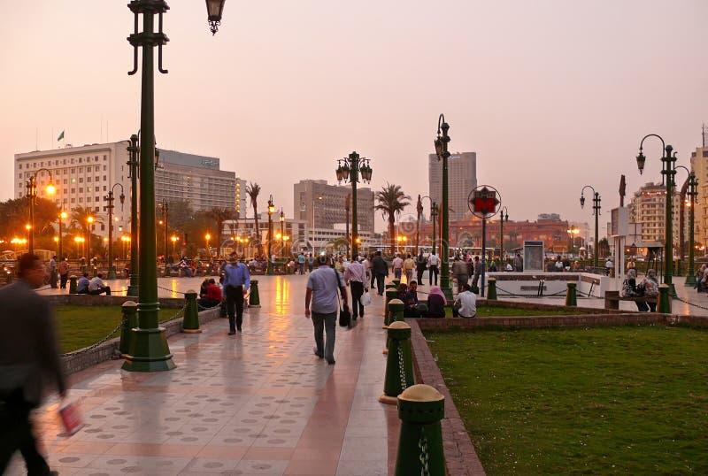 KAIRO, ÄGYPTEN - 9. NOVEMBER 2008: Kairo-Stadtzentrum. stockfoto