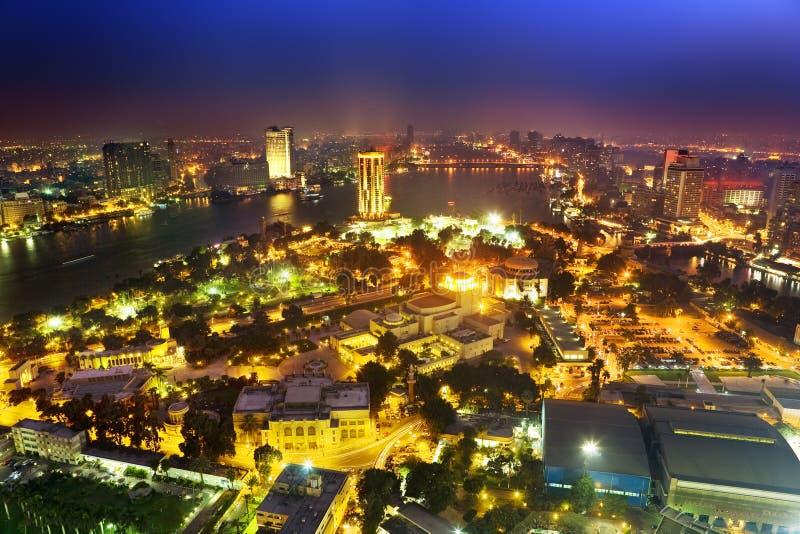 Kairo bis zum Nacht stockbild
