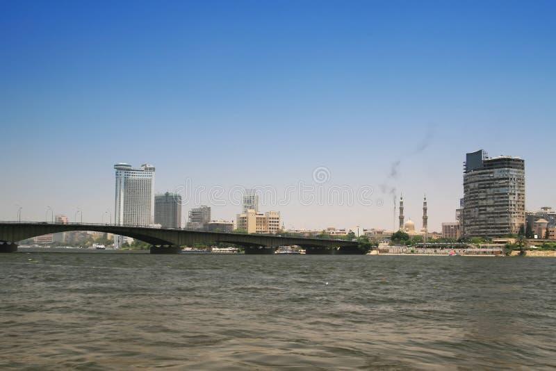 Kairo-Stadt und Fluss Nil lizenzfreies stockfoto