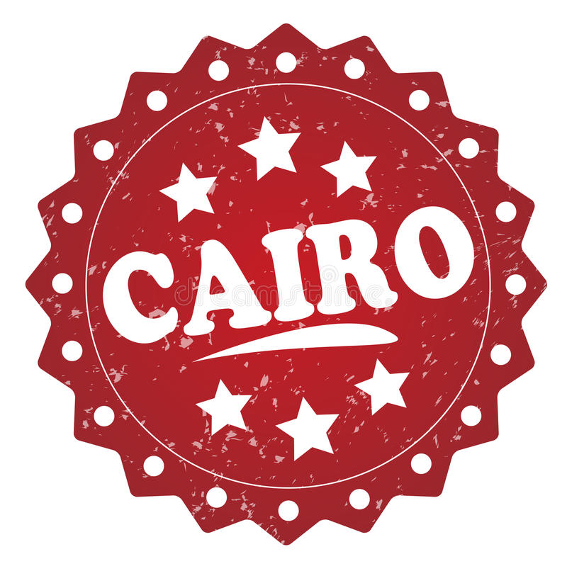 Kairogrungeetikett, klistermärke vektor illustrationer