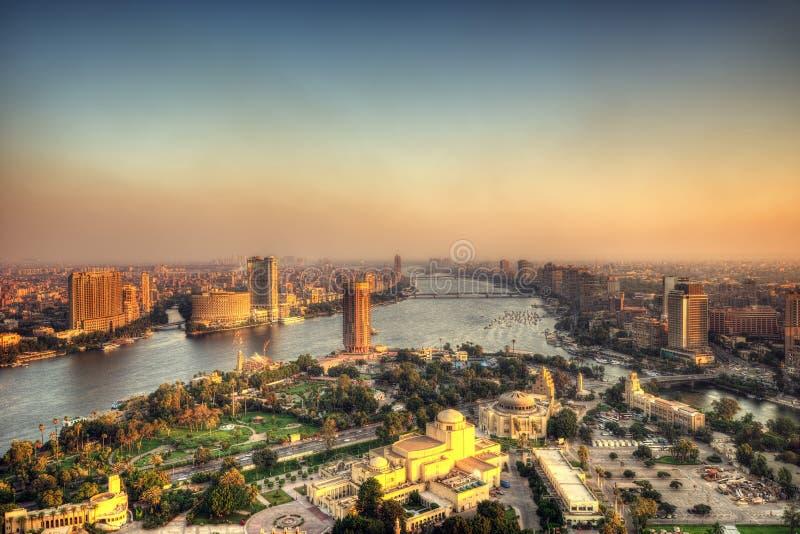 Kairohorisont från Kairotorn arkivfoton