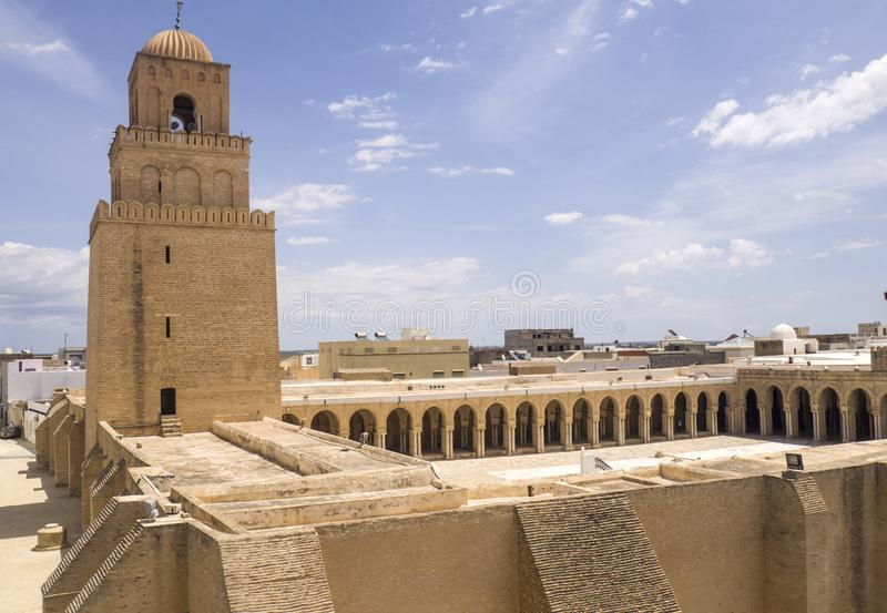 Kairuan - el lugar del acebo para el Islam en Túnez imágenes de archivo libres de regalías