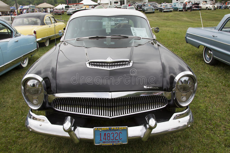 1954 Kaiser Black Car Front view stock image