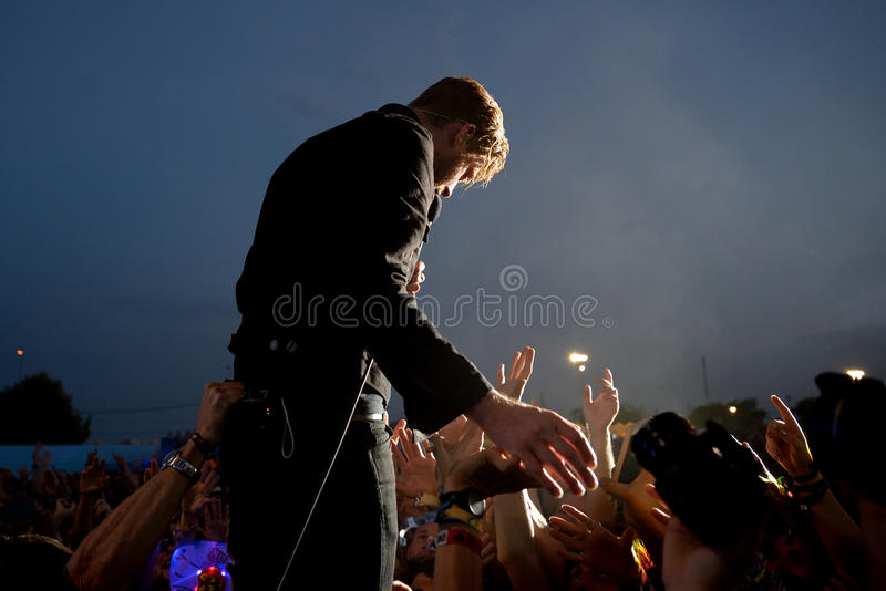 Kaiser Chiefs (band) in concert at FIB Festival. BENICASSIM, SPAIN - JUL 18: Kaiser Chiefs (band) in concert at FIB Festival on July 18, 2015 in Benicassim stock images