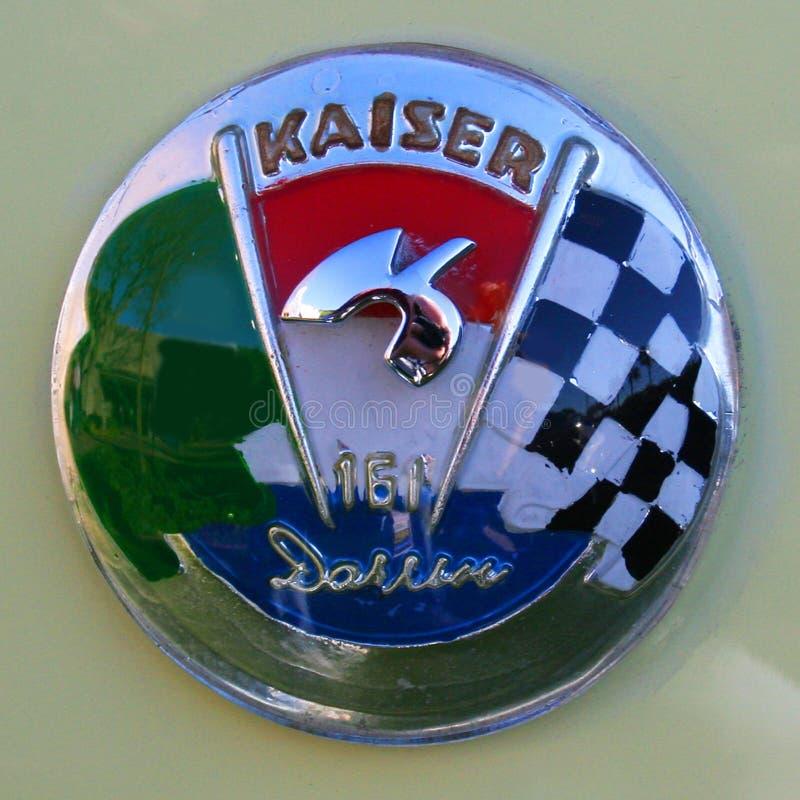 Kaiser Darrin Chrome Badge photos libres de droits