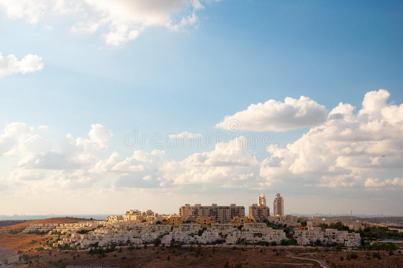 Kaiser Modiin in Israel. District Kaiser Modiin in Israel stock image