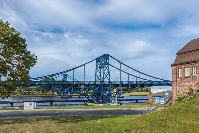 Kaiser ouvert Wilhelm Bridge chez Wilhelmshaven photos stock