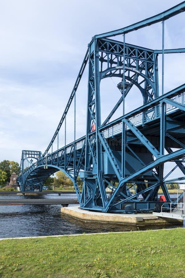 Kaiser Wilhelm Bridge chez Wilhelmshaven, Allemagne photo stock