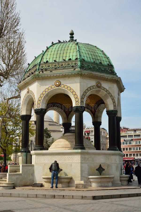 Kaiser Wilhelm Fountain à Istanbul, image libre de droits