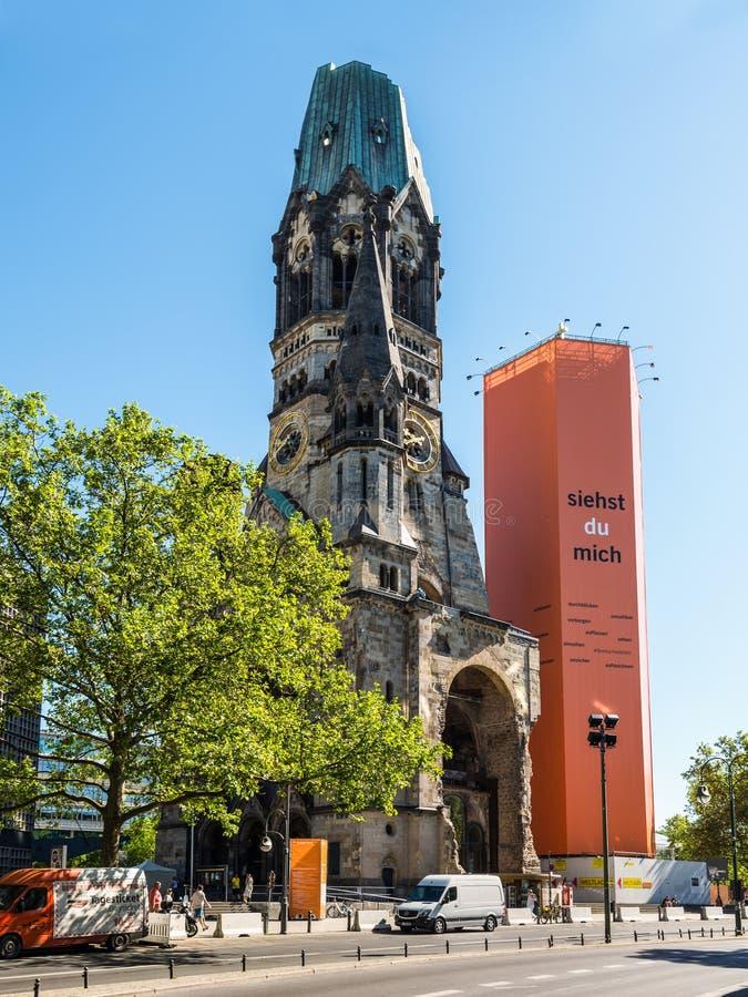 Kaiser Wilhelm Gedachtnischurch à Berlin, Allemagne image libre de droits