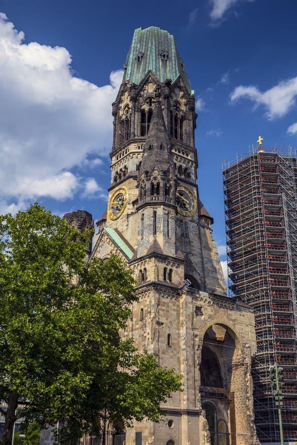 Kaiser-Wilhelm-Kirche à Berlin, Allemagne images libres de droits