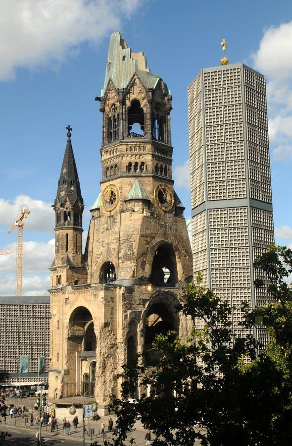 Kaiser Wilhelm Memorial Church à Berlin, Allemagne image libre de droits
