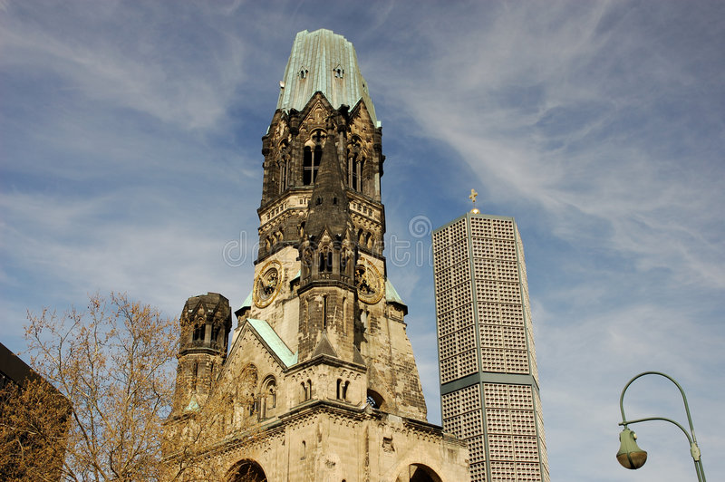 Kaiser Wilhelm Memorial Church royalty-vrije stock fotografie
