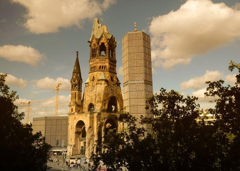 Kaiser Wilhelm Memorial Church, Berlin, Allemagne image libre de droits
