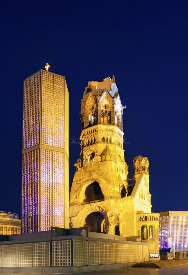 Kaiser Wilhelm Memorial Church, Berlin, Tyskland royaltyfri bild