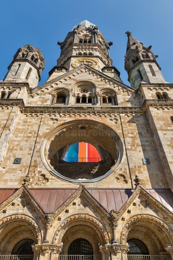Kaiser Wilhelm Memorial Church en Berl?n, Alemania foto de archivo
