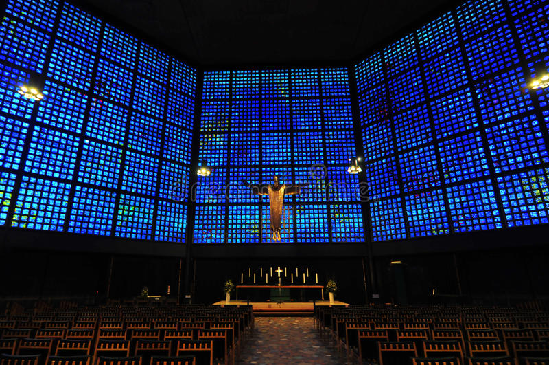 Kaiser Wilhelm Memorial Church Interior royalty free stock image