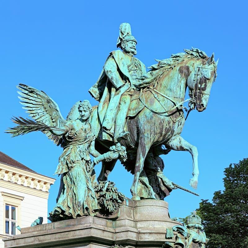 Kaiser Wilhelm Monument à Dusseldorf, Allemagne image libre de droits