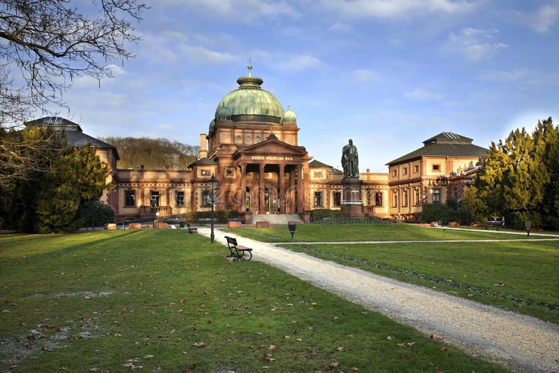 Kaiser-Wilhelms-Bad in Bad Homburg. Germany.  royalty free stock image