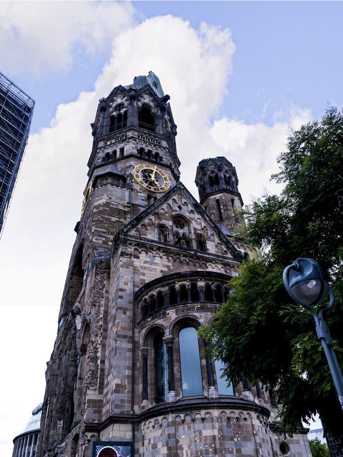 Kaiser Willhelm Gedachtnis Kirche en Berlin Germany image stock