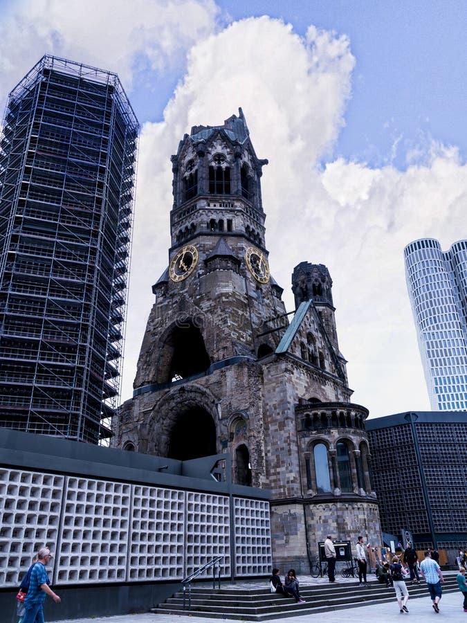 Kaiser Willhelm Gedachtnis Kirche en Berlin Germany photos libres de droits