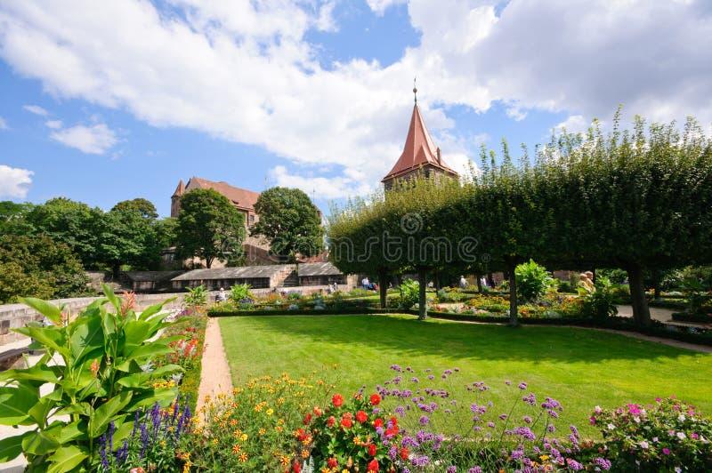 Kaiserburg - Nürnberg/Nuremberg, Duitsland stock foto's