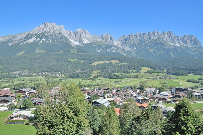 Kaisergebirge, Ellmau,提洛尔,奥地利 免版税库存照片